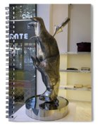 Store Window Art On Champs Elysees In Paris France Spiral Notebook