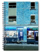 Stores On Ossington In Blue Spiral Notebook