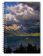 Storm Above St. Mary Lake Spiral Notebook