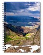 Storm Above The Alvord Desert Spiral Notebook