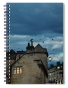 Storm Above Town Spiral Notebook