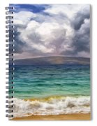 Storm Across The Channel Spiral Notebook