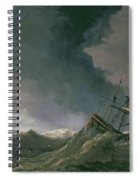 Storm At Sea Spiral Notebook