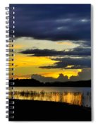 Storm At The Lake Spiral Notebook