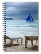 Stormy Beach - Boracay, Philippines Spiral Notebook