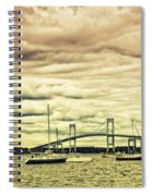 Storm Brewing In Newport Spiral Notebook