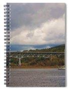 Storm Brewing Over Rip Van Winkle Bridge Spiral Notebook