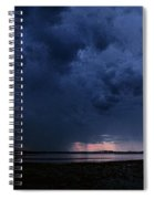 Storm Cell Over Lubec Maine Spiral Notebook