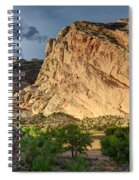 Storm Clouds Above Split Mountain Dinosaur National Monument Spiral Notebook