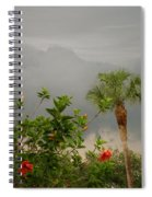 Storm Clouds And Flowers Spiral Notebook