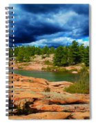 Storm Clouds Approaching Chikanashing Spiral Notebook