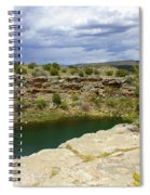 Storm Clouds Over Montezuma Well Spiral Notebook