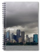 Storm Clouds Over Sydney Spiral Notebook
