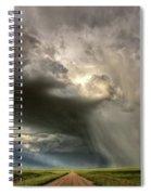 Storm Clouds Prairie Sky Saskatchewan Spiral Notebook
