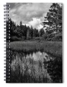 Storm Clouds Rolling In Over The Creek Spiral Notebook