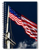 Storm Flag At Fort Mchenry Spiral Notebook