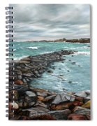 Storm In Rockport Harbor Spiral Notebook