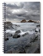 Storm Is Coming To Island Of Menorca From North Coast And Mediterranean Seems Ready To Show Power Spiral Notebook