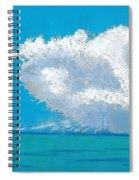 Storm Off The Beach Spiral Notebook