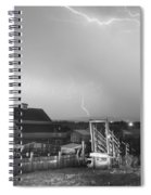 Storm On The Farm In Black And White Spiral Notebook