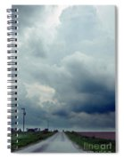 Storm Over Country Road Spiral Notebook
