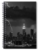 Storm Over Nyc  Spiral Notebook