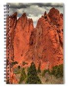 Storm Over Red Rocks Spiral Notebook