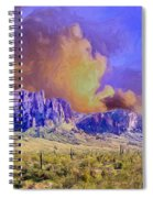 Storm Over The Superstitions Spiral Notebook