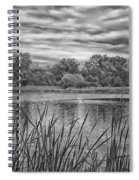Storm Passing The Pond In Bw Spiral Notebook