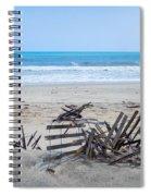 Storm Ravaged Fence  Spiral Notebook