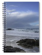Storm Rolling In Wickaninnish Beach Spiral Notebook