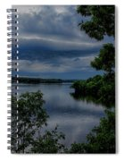 Storm Rolling Over Lake Wausau Spiral Notebook