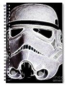 Storm Trooper Helmet Spiral Notebook