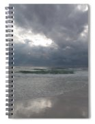 Stormclouds Over The Sea Spiral Notebook