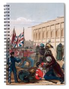 Storming Of Khelat, The Troops Entering Spiral Notebook