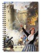 Storming The Bastille Spiral Notebook