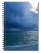 Storms Brewing Off Navarre Beach At Dawn Spiral Notebook