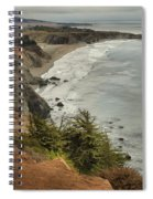 Storms Over A Rugged Coast Spiral Notebook