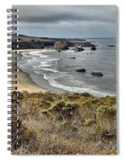 Storms Over An Unspoiled Beach Spiral Notebook