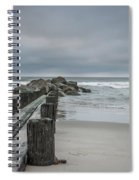 Stormy Beach Forcast Spiral Notebook
