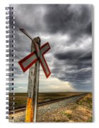 Stormy Crossing Spiral Notebook