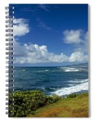 Stormy Day At The Beach Spiral Notebook