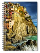 Stormy Day In Manarola - Cinque Terre Spiral Notebook