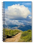 Stormy Day In The Desert Spiral Notebook