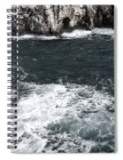 Mediterranean Sea And Rocks Sculpted By Wind And Salt In South Of Menorca Spiral Notebook