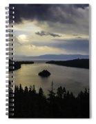 Stormy Emerald Bay Spiral Notebook