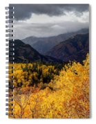 Stormy Fall Along The Alpine Loop - Utah Spiral Notebook