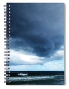 Stormy - Gray Storm Clouds By Sharon Cummings Spiral Notebook