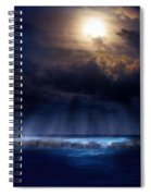 Stormy Moonrise Spiral Notebook