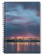 Stormy Night Lights Spiral Notebook